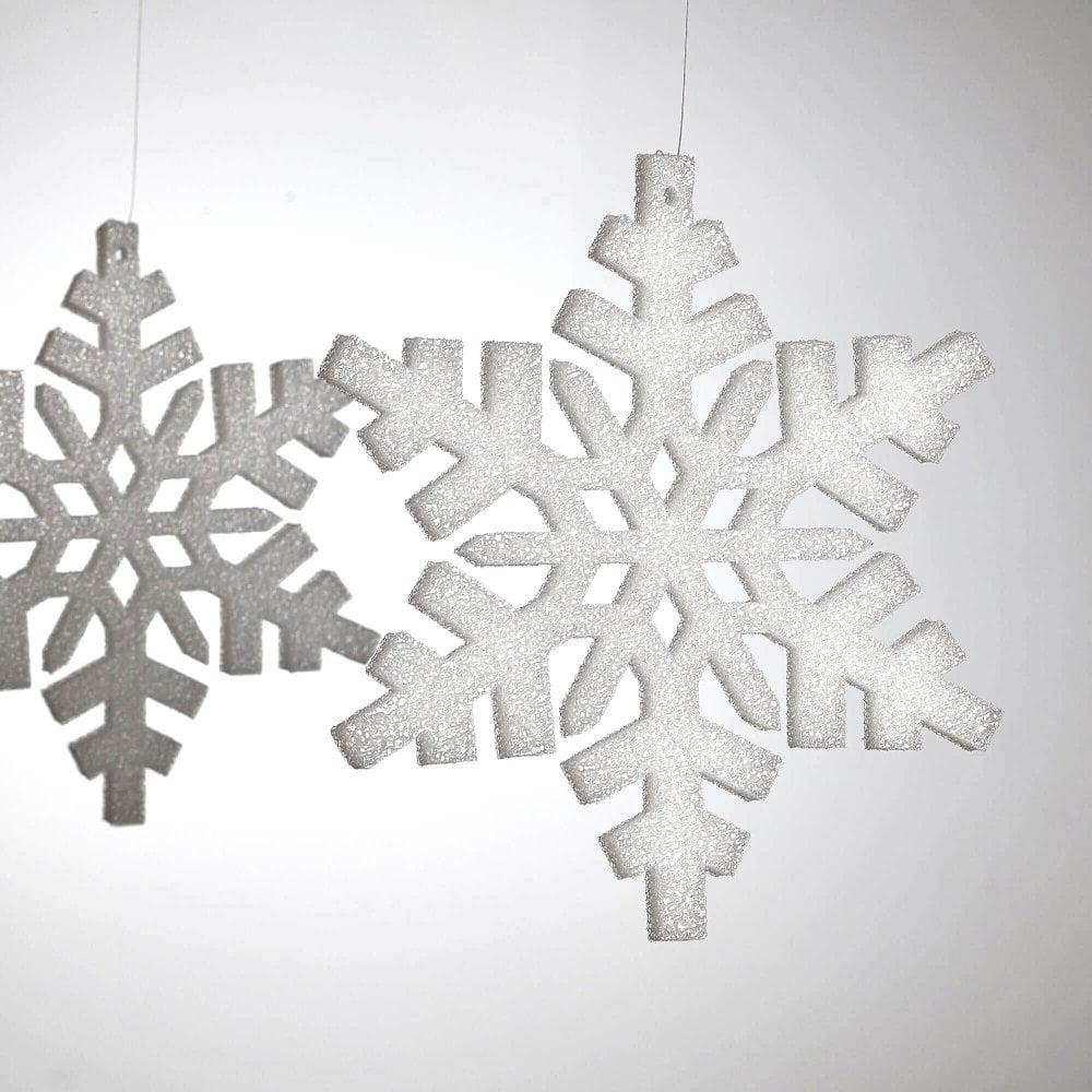 Snowflake Decorations 250mm X 12